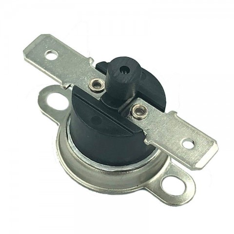 Thermostat with manual reset with horizontal lug
