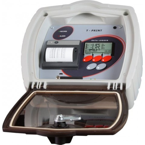 Temperature recorder for semi-trailer with integrated GSM modem