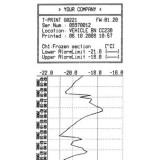 Enregistreur de température pour semi-remorque avec sortie sans fil