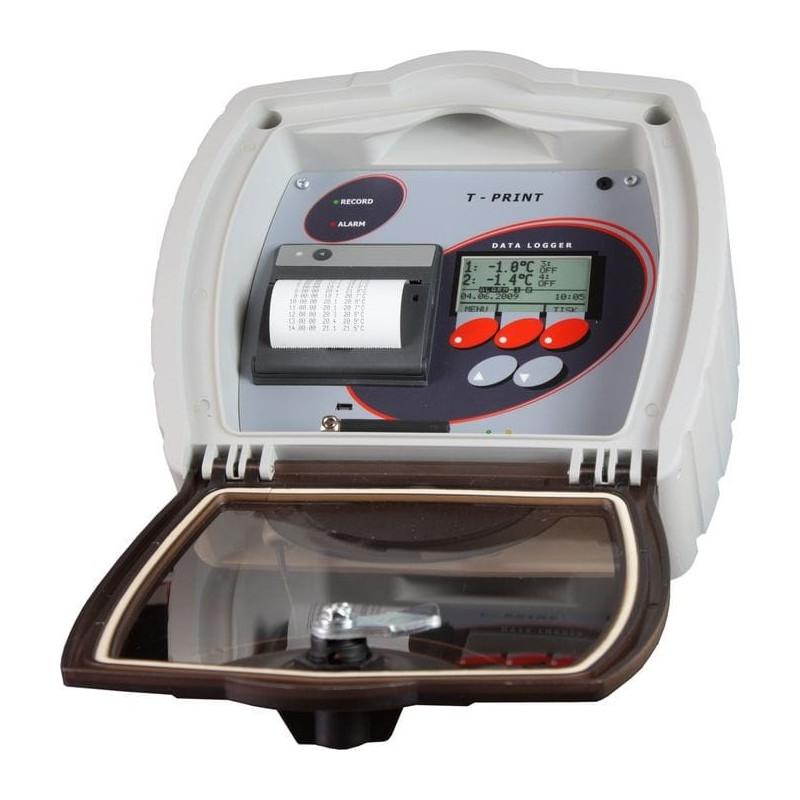 Enregistreur de température avec imprimante pour semi-remorque