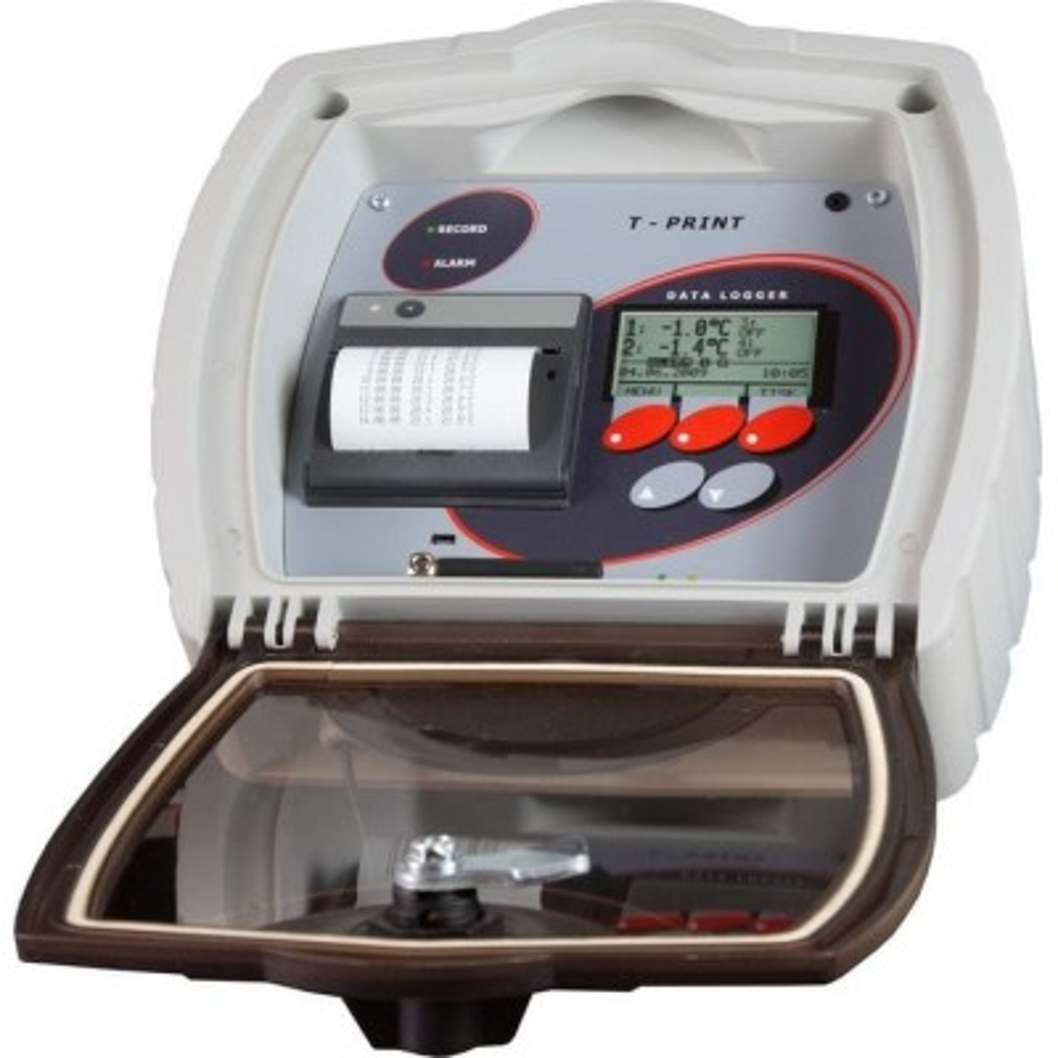 Temperature recorder with printer for semi-trailer