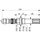 Hygromètre à thermomètre à air comprimé avec interface Ethernet et relais