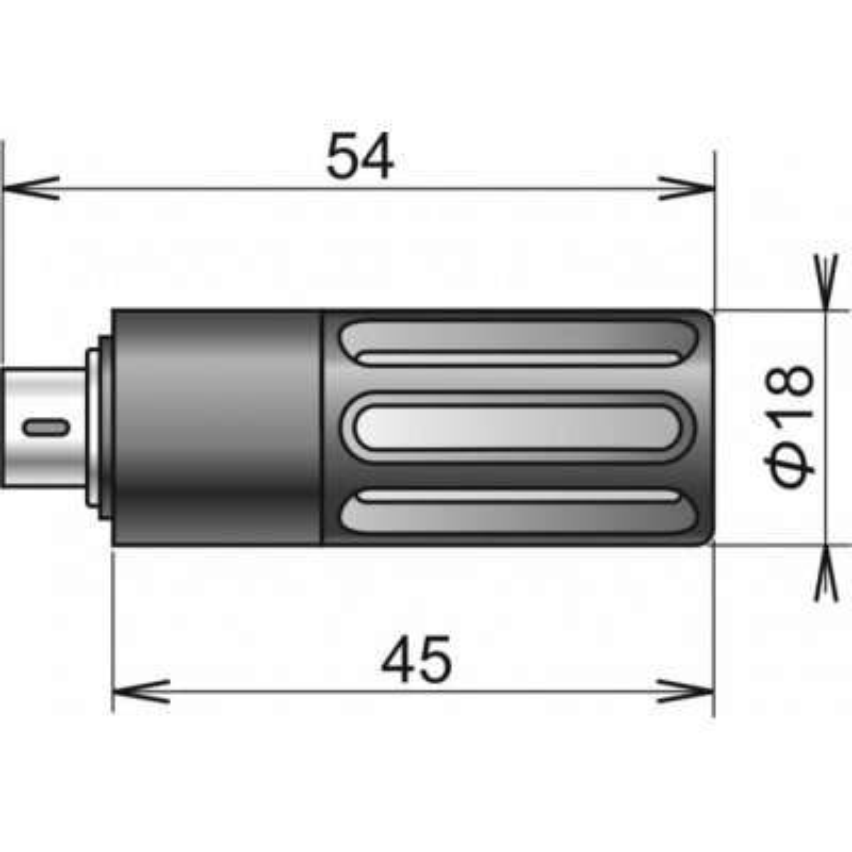 DIGIL / M digital temperature / humidity probe, MiniDin connector