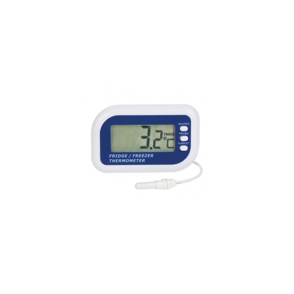 Thermomètre pour réfrigérateur ou congélateur avec capteur interne et fonction max / min