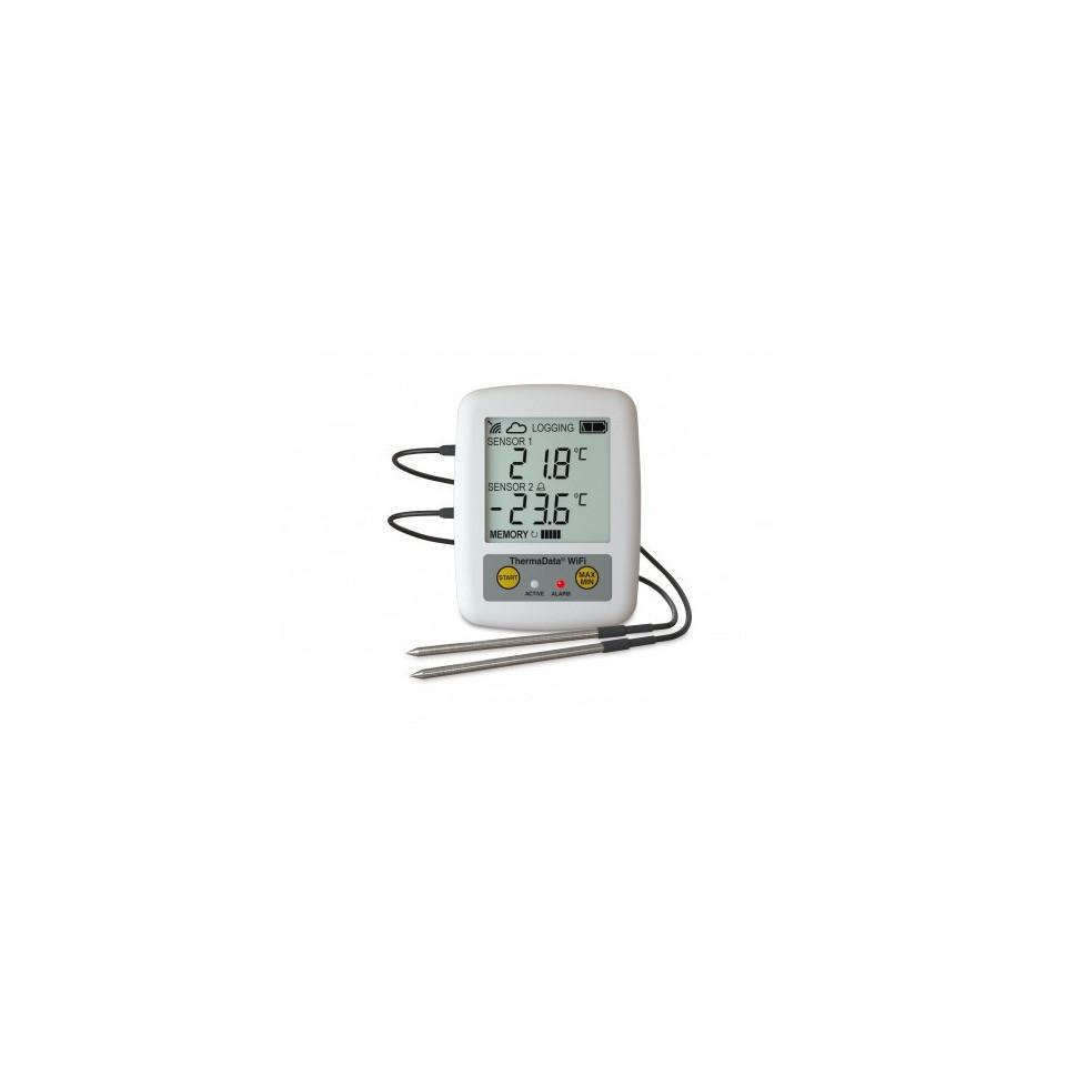 Thermomètre enregistreur Wifi - thermistance à deux canaux externes