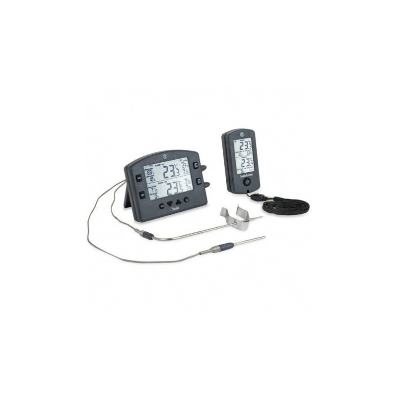 Wireless Smoke Grill Thermometer and Receiver 1