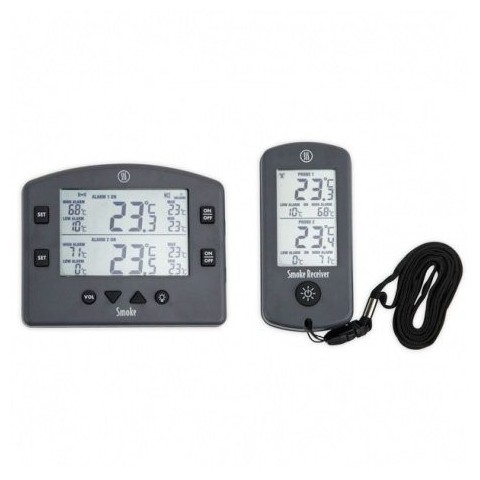 Wireless Smoke Grill Thermometer and Receiver 2