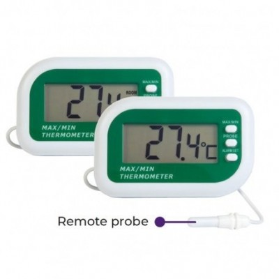 Max min digital alarm thermometer with internal and external sensors 2