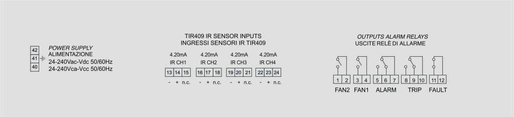NT935-IR connexions électriques