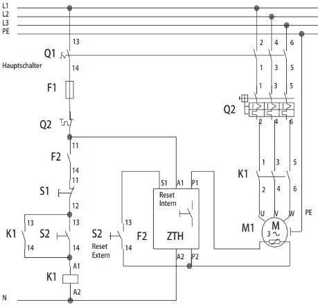 Schema relais thermistances PTC