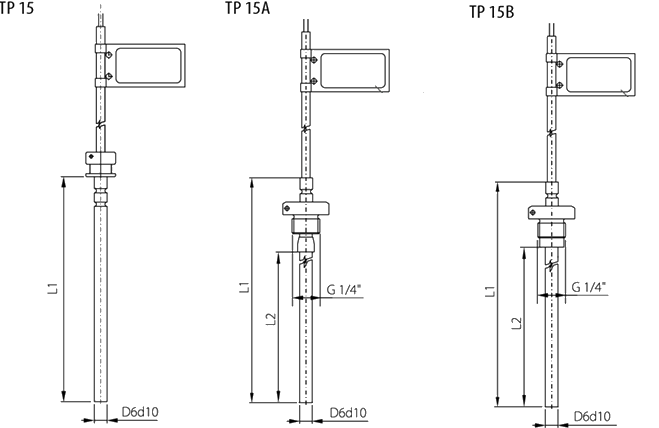 Sonde appairée à résistance TP15
