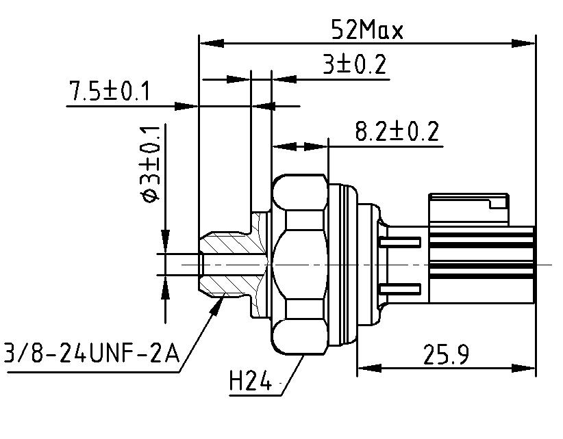 Capteur de pression de tuyau de climatisation automobile
