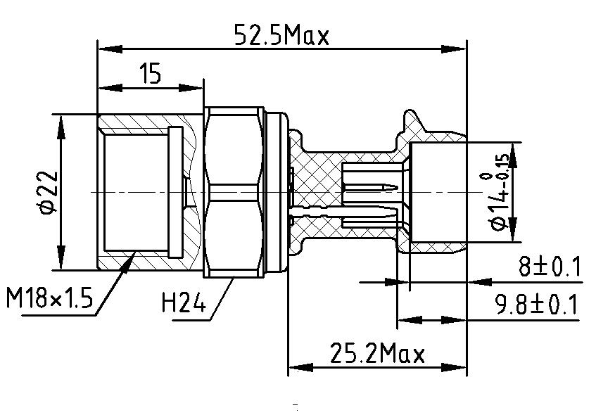 Schéma capteur de pression ABS