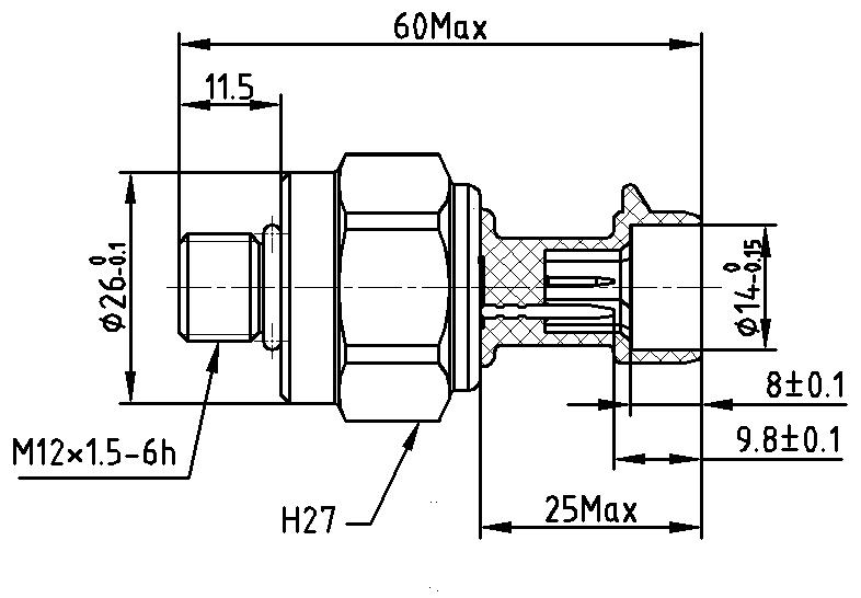 Schéma capteur de pression hydraulique pour frein