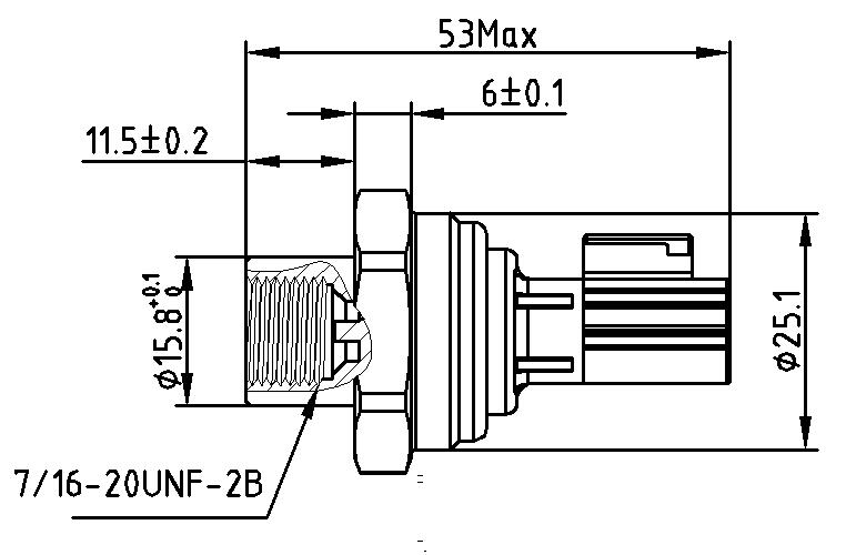 Commercial air conditioning pressure sensor
