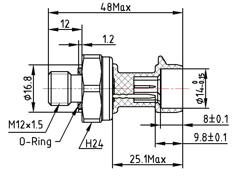 Outlet oil pressure sensor diagram for oil pump