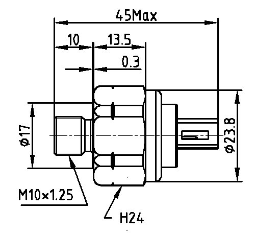 Schéma capteur de pression d'huile de transmission automobile
