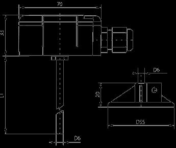sonde de température avec afficheur et plongeur