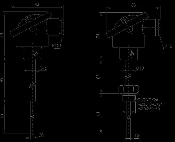Sonde à tête de connexion standard