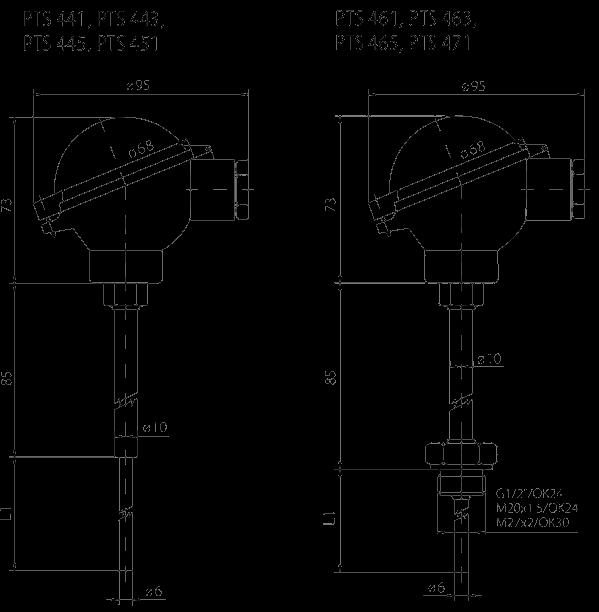 Sonde à tête de connexion - IP68