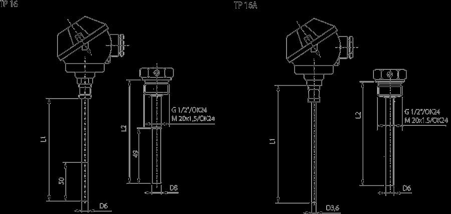 Sonde appairées type TP 16