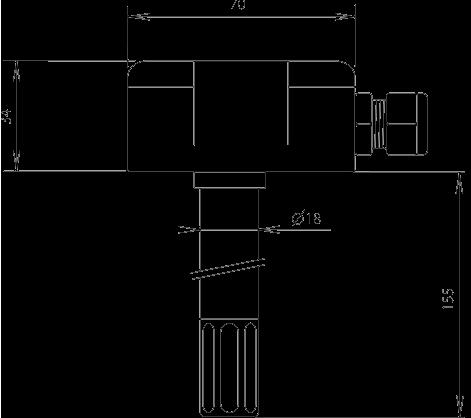 Sonde de température et humidité pour gaine de ventilation