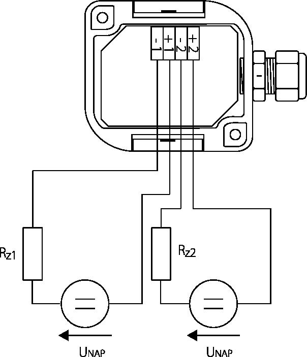 Schéma de câblage sonde de température et humidité pour gaine de ventilation