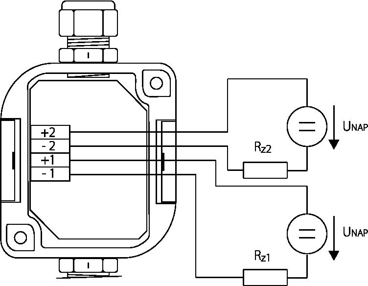 Schéma de câblage sonde humidité avec boitier de câblage