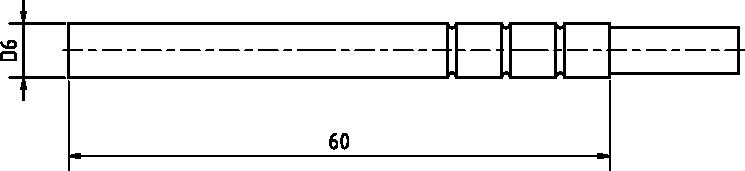 Schéma sonde étanche TG 68 -40 à 200°C