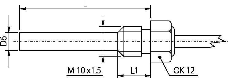 Schéma sonde raccord m10 6mm