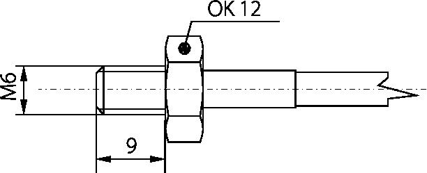 Sonde de contact raccord M6 30à200C