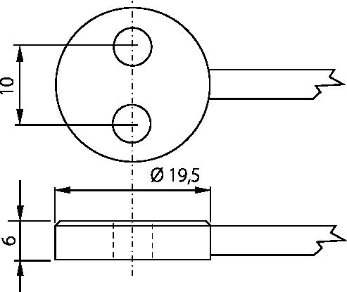 Sonde de contact laiton vis M4
