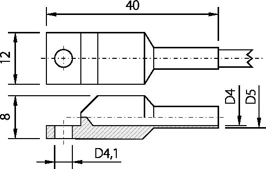 Sonde de contact à cosse acier inox ou aluminium