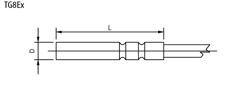 Sonde de température ATEX à tube lisse