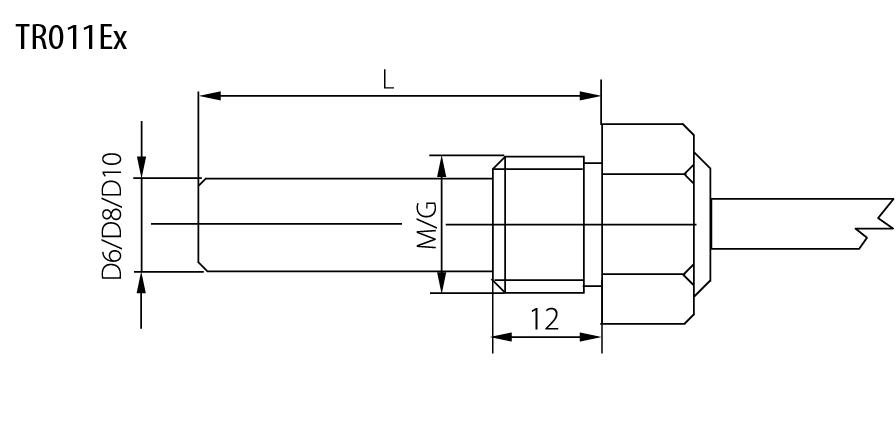 Sonde ATEX avec raccord -30 à 180°C