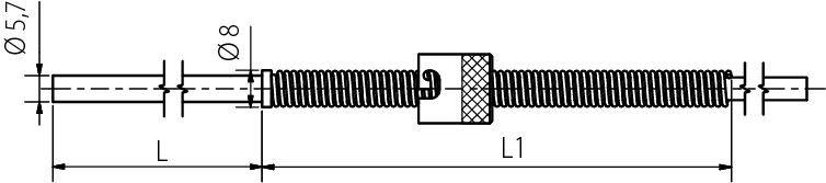 Sonde à baïonnette, 6mm, -50 à 350°C
