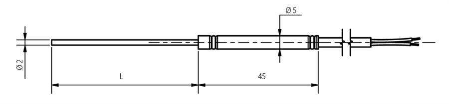 Sonde chemisée 2mm