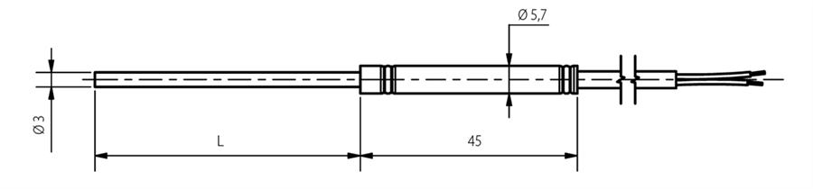 Sonde chemisée 4mm