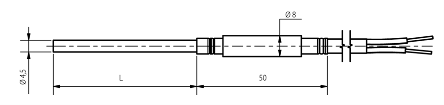 Sonde chemisée 4.5mm