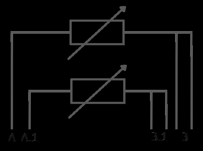 Symbole 2 x Pt100 3 conducteurs RTD