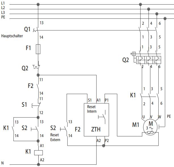Schéma de branchement relais CTP