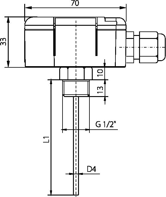 Dessin technique sonde SD 162 modbus rs485
