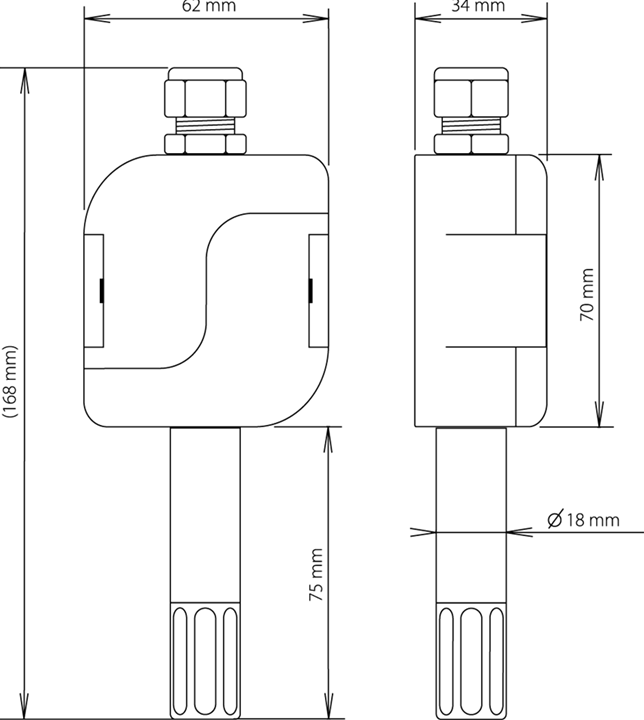 Temperature and humidity probe diagram