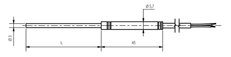 Schéma thermocouple chemisé 3mm