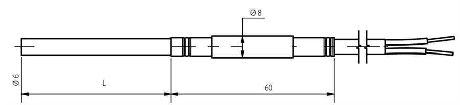 Schéma thermocouple chemisé 6mm